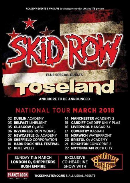 SKID ROW UK 2018